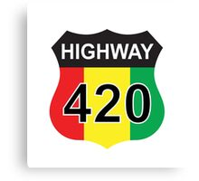 Highway 420 Rasta Rastafarian Canvas Print