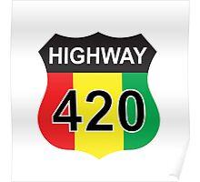 Highway 420 Rasta Rastafarian Poster
