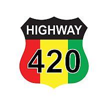 Highway 420 Rasta Rastafarian Photographic Print
