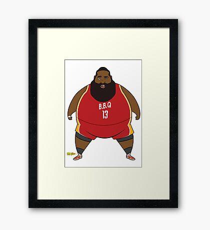 B.B.Q and Beards Framed Print