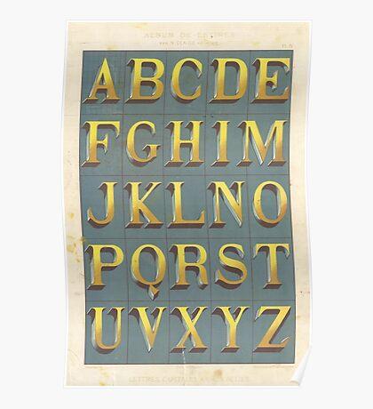 Vintage font typography Poster
