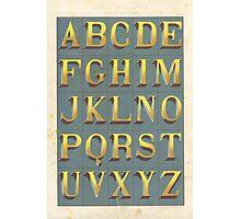 Vintage font typography Photographic Print