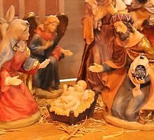 Church Nativity 2 by Kathy Rogers-Hartley