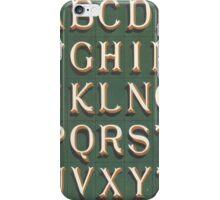 Vintage font typography iPhone Case/Skin