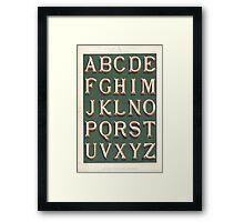 Vintage font typography Framed Print