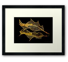 INTRICATE ( gold) Framed Print