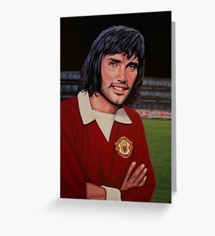 George Best Painting Greeting Card
