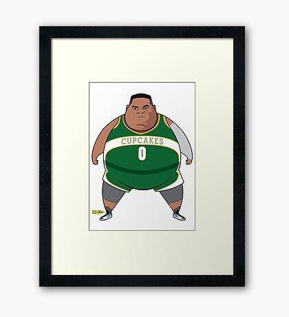 Russ The Thundering Cupcake Framed Print
