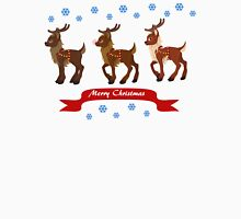 Three Reindeer and Snowflakes Unisex T-Shirt