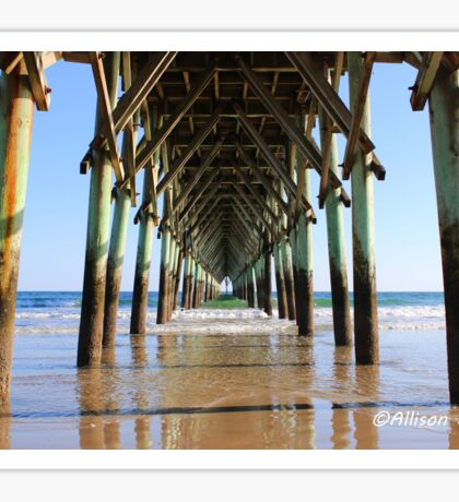 Under the pier  Sticker