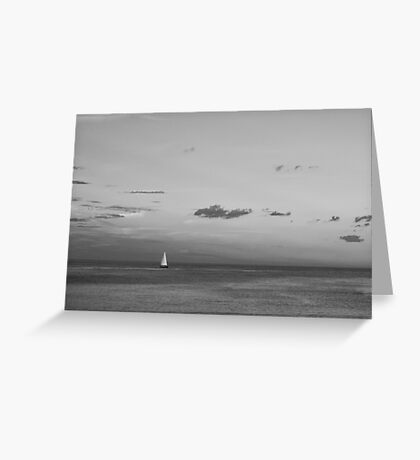Black and White Sailboat Greeting Card