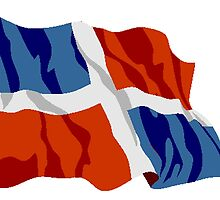 Dominican Republic Flag by kwg2200