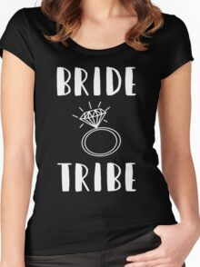 Cute Funny Bridesmaids- Bride's Tribe  Women's Fitted Scoop T-Shirt
