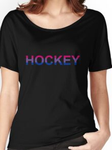 Bisexual Hockey Pride Women's Relaxed Fit T-Shirt