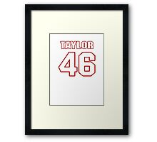 NFL Player Mike Taylor fortysix 46 Framed Print