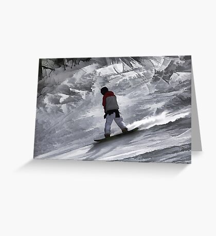 """Snowboarder """"just cruisin'"""" Winter Sports Gift Greeting Card"""