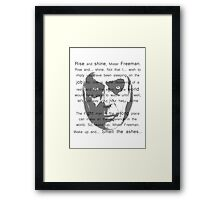Gman | Rise and shine... Framed Print