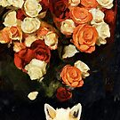 Fox and Roses by Sarah Butcher