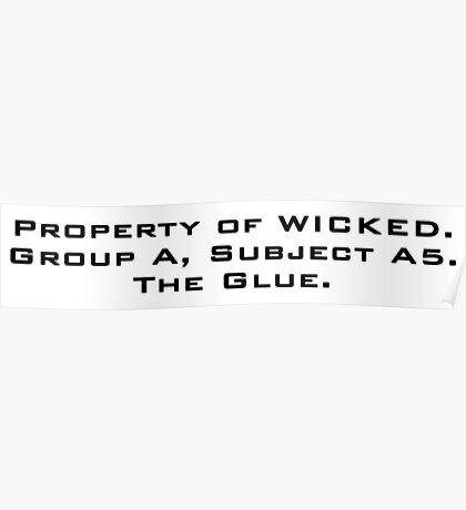 Property of WICKED - Newt Poster