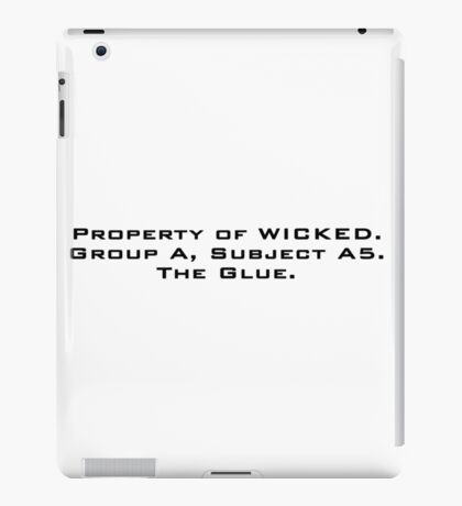 Property of WICKED - Newt iPad Case/Skin
