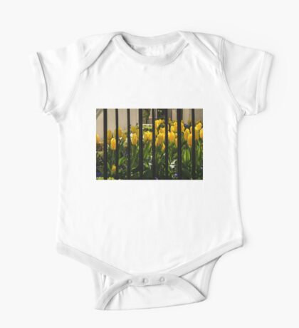 Tulips Behind Bars One Piece - Short Sleeve