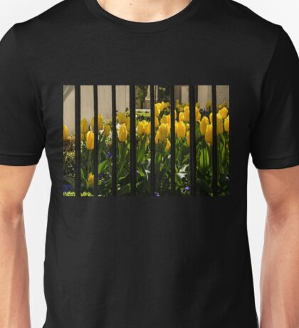 Tulips Behind Bars Unisex T-Shirt