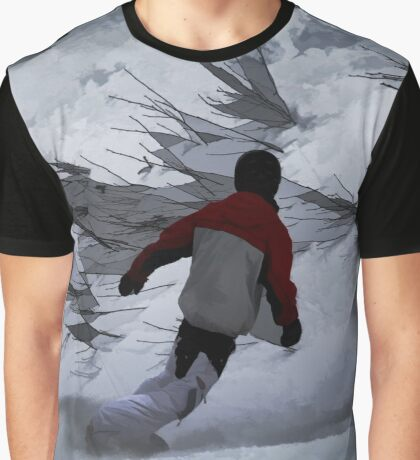 "Snowboarder ""Carving the Mountain"" Winter Sports Graphic T-Shirt"