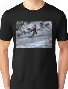 """Snowboarder """"Carving the Mountain"""" Winter Sports Unisex T-Shirt"""