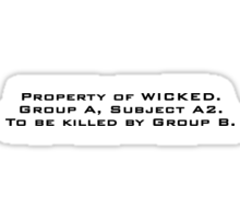 Property of WICKED - Thomas Sticker