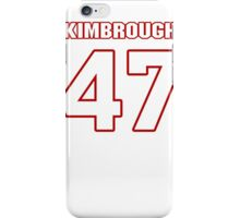 NFL Player Jeremy Kimbrough fortyseven 47 iPhone Case/Skin