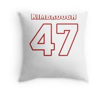 NFL Player Jeremy Kimbrough fortyseven 47 Throw Pillow