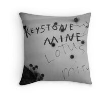Bullet Holes Throw Pillow