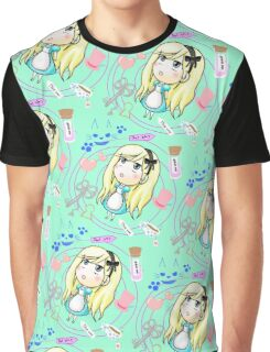 down on the rabbit hole pattern Graphic T-Shirt