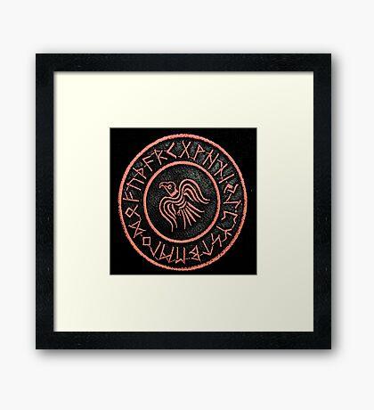 Viking - Raven Banner Framed Print