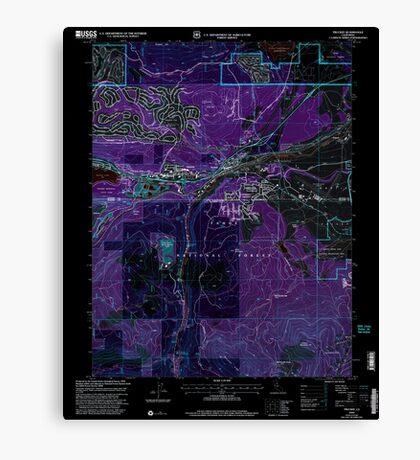 USGS TOPO Map California CA Truckee 295533 2000 24000 geo Inverted Canvas Print