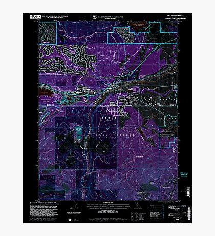 USGS TOPO Map California CA Truckee 295533 2000 24000 geo Inverted Photographic Print