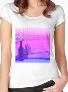 Wine Bottles Women's Fitted Scoop T-Shirt