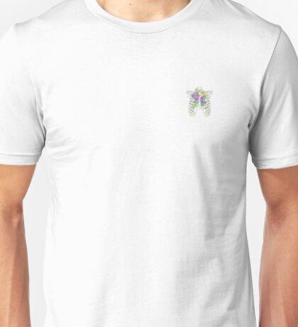 Pastel Rose Ribcage Unisex T-Shirt
