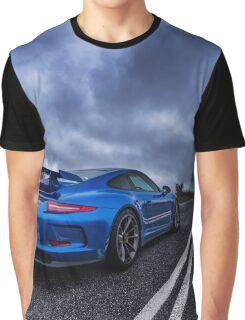 Blue Porsche GT3 Graphic T-Shirt