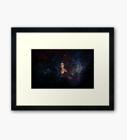 Lauren Jauregui Galaxy Framed Print