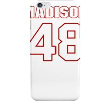 NFL Player Ross Madison fortyeight 48 iPhone Case/Skin