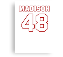 NFL Player Ross Madison fortyeight 48 Canvas Print