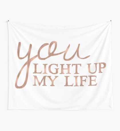 You light up my life - rose gold Wall Tapestry