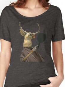 Deer Looks into Mirror Women's Relaxed Fit T-Shirt