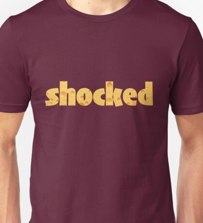 Shocked in Cheese Unisex T-Shirt