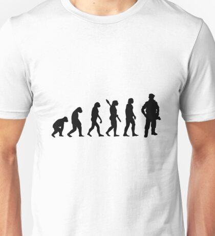 Human evolution of army man Unisex T-Shirt
