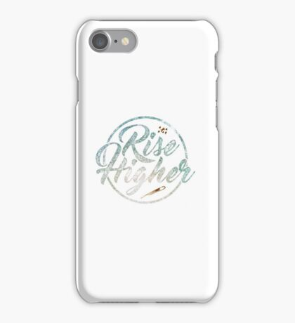 Inspiration Quote - Rise Higher Gold Shooting Stars iPhone Case/Skin