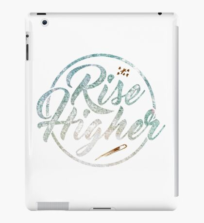 Inspiration Quote - Rise Higher Gold Shooting Stars iPad Case/Skin