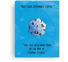 Diplomacy Check - Bog of Eternal Stench - d20 fail  Canvas Print
