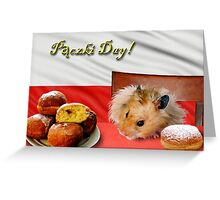 paczki Day Hamster Greeting Card